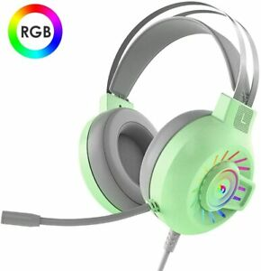 RGB LED Gaming Headset Headphone For PC Mac Nintendo Switch Laptop PS4 Xbox One