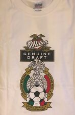 NEW without Tags MILLER GENUINE DRAFT Beer Men's T-Shirt XL - Mexicana De Futbol