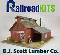 B.J. Scott Lumber Co. Railroad Kits - HO Scale Craftsman Structure - BEST VALUE!