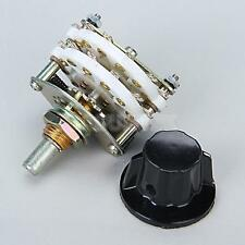 NEW 4P-5T Ceramic Rotary Switch 4 pole 5 positions 6mm for RF Power Applications