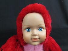 NEW BABY DOLL GIRL LADYBUG COSTUME HARD PLASTIC FACE PLUSH STUFFED ANIMAL TOY