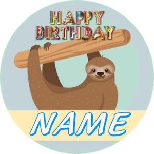 Sloth birthday badge LAZY SLOTH