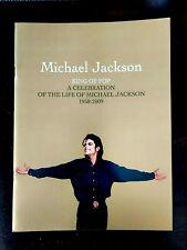 MICHAEL JACKSON Authentic Staples Center Memorial Funeral Program 2009 - MINT!