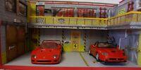 diorama  atelier garage Ferrari Scuderia 1/18 sans voiture the ar Eclairage LED