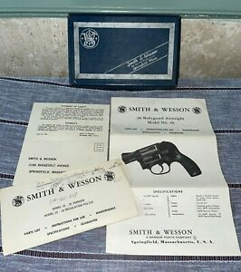 Smith & Wesson .38 Bodyguard Airweight Model 38 Pistol Original Box & Papers VTG