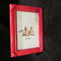 4 x 6 Red Picture Frame Vertical or Horizontal
