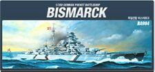 Academy 1/350 German Bismarck Battle #14109 With Free Shipping + Free Gifts