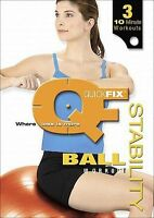 Quickfix STABILITY BALL WORKOUT (DVD) 3 workouts, New - Sealed