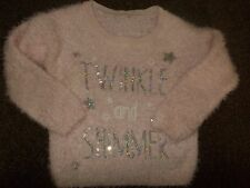 baby girls gorgeous pink Christmas jumper 9-12 months excellent condition
