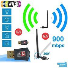 CHIAVETTA USB DONGLE WIFI 900Mbps ADATTATORE WIRELESS LAN  802.11N ANTENNA WIFI