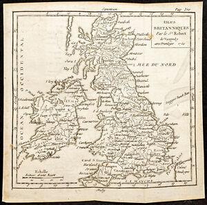1750 - Carta Geografica Antica Isole Britanniche - Da Vaugondy