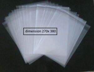 50 POCHETTES PLASTIQUE  PROTECTION BD BANDE DESSINEE 270 X 380