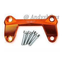 KTM Duke 125 200 390 aluminio CNC naranja Abrazadera del Manillar Riser Cubierta Superior