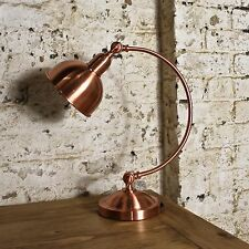 Copper Desk Lamp Table Curve Study Bedside Retro Arched Vintage Design Brass New
