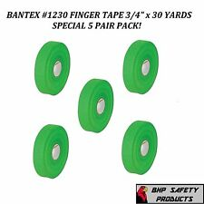 """COHESIVE GAUZE FINGER TAPE GREEN 3/4"""" X 30 Yd. BANTEX #1230 SAFETY (5 ROLL PACK)"""
