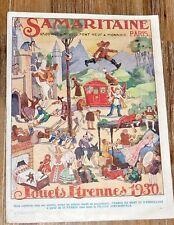 CATALOGUE JOUETS 1930 LA SAMARITAINE POUPEES VOITURE A PEDALE CIJ JRD EUREKA ...