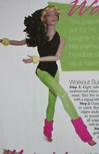 """Work It Out 11 1/2"""" Fashion Doll Barbie Clothing SEWING PATTERN"""