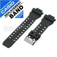 Genuine Casio Watch Band G-Shock GD-350-1 GD-350-1B GD-350-1C Black Rubber Strap