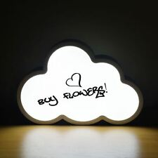 LED Light Up Box Cloud Shape Write Your Own Message Sign Display Party Wedding