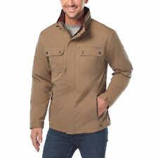 Rugged Elements Men's Trek Jacket With Hidden Hood Coat Tan Size L