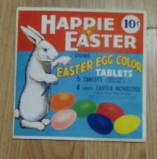 Vintage 1950's Multicolor Easter Egg Coloring kit. Happie Easter brand Rare