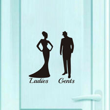 Portrait Self-adhesive Removable Decoration Door Label Sign Toilet Sticker LI