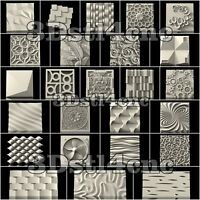 27 3D STL Models Wall Panels for CNC Router Carving Machine Artcam aspire Cut3D
