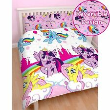 My Little Pony Equestria Double Duvet Quilt Cover Set Kids Girls Bedding