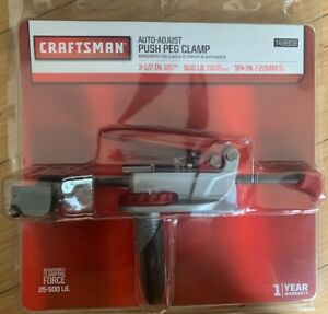 New Craftsman Auto-Adjust Push Peg Clamp 49808