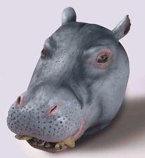 HIPPO Animal Mask FULL SIZE Realistic LATEX Costume Adult Hippopotamus Head NEW