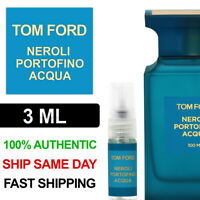 Tom Ford Neroli Portofino Acqua EDT 3ml Decant Spray Bottle - 100% Authentic