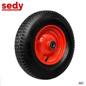 """16"""" 4.80 / 4.00-8 Wheelbarrow Trolley Wheel 20mm Bore Tyre Wheels Pneumatic Tyre"""