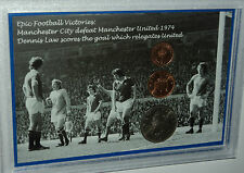 Manchester City Denis Law Defeat Man United Vintage Retro Coin Gift Set 1974