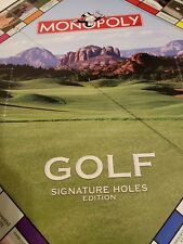 Monopoly Golf Signature Holes Replacement Game Board Only. Mint Condition