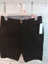 NWT Time and Tru Bermuda Shorts black midrise slim fit women's size 6