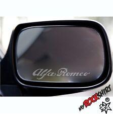 Alfa Romeo 2-er Set Aufkleber Aussenspiel Milchglasfolie Frost  Sticker Tuning