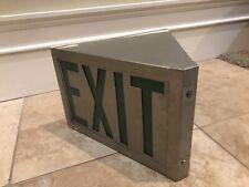 """Vintage 1940's Green Exit Sign DayBrite Lighting Antique """"Man Cave� Works"""