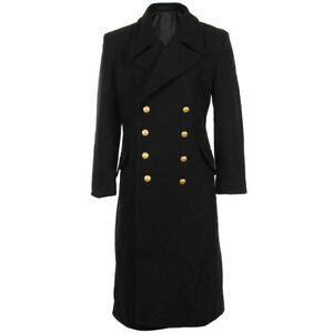 Abrigo de lana negro azul marino - Foso de invierno Naval Militar