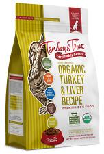 New listing Tender & True Organic Turkey & Liver Recipe Dry Dog Food, 20 lb bag