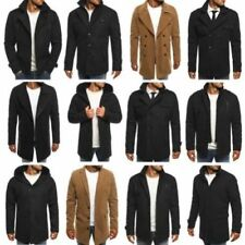 Manteaux et vestes noirs en polyester pour homme