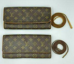 Auth Louis Vuitton Monogram Pochette Twin GM M51852 Shoulder pouch AA-1262