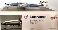 Herpa Lufthansa Lockheed L-1649A SuperStar Diecast Model Aircraft 1/200 HE559805