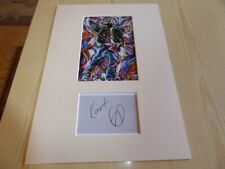 Kurt Cobain Nirvana mounted photograph & autograph card