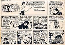 FRAN MATERA The Legend Of Bruce Lee ORIGINAL SUNDAY COMIC STRIP ART 1-30-83