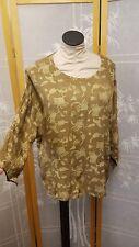 NWT Meng Designs Rayon Batik Top Shirt M Medium LOOK