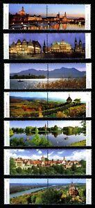 Deutschlands schönste Panoramen, 7 Zusammendrucke, nassklebend, postfrisch