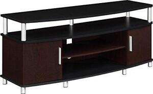 "Ameriwood Home Carson TV Stand for TVs up to 50"", Cherry/Black"