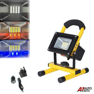 30W LED Rechargeable Cordless Work RGB Flood Light Portable Camping Hiking Lamp