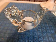 Heavy Avon Glass Squirrel Votive Tea Light Candle Holder/shave brush holder