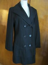 Calvin Klein women's black stylish fitted coat size 12 NWT